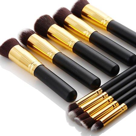 Zimtown 10Pc Makeup Brushes Tool Set Cosmetic Eyeshadow Face Powder Foundation Lip Brush - image 1 of 7