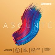 D'Addario A313 4/4M M-Steel Violin Strings, Medium, Expressive tone: expanded tonal palette designed to complement student instruments By DAddario