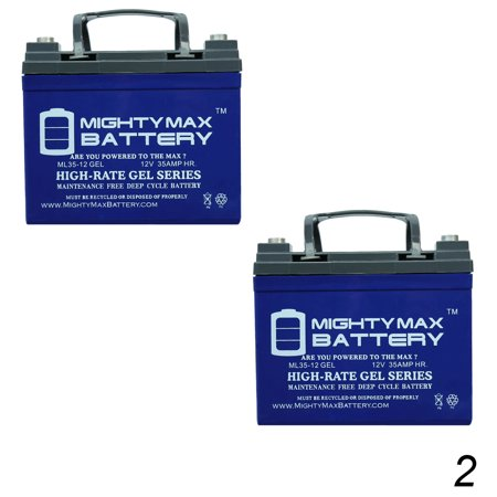 12V 35AH GEL Battery for Pride, Dynamo, Jazzy Dynamo - 2 Pack
