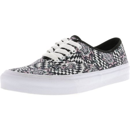11f07918a28 Vans - Vans Authentic Slim Checker Kaleidoscope True White Canvas  Skateboarding Shoe - 9M   7.5M - Walmart.com