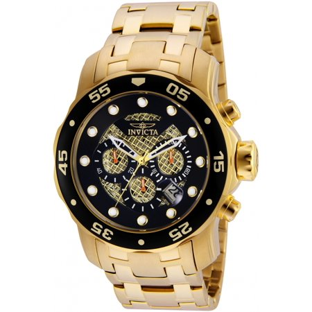 Invicta Men's Pro Diver Quartz Chronograph Stainless Steel 200m Watch 25332