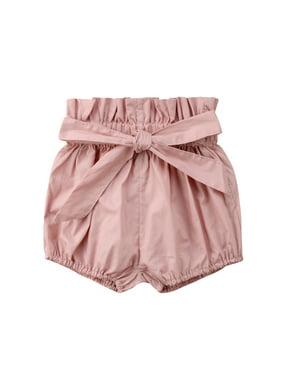 Newborn Toddler Baby Girl Boy Kids Short Pants Bottoms PP Bloomers Floral Plaids Solid Shorts Pink 9-18 Months