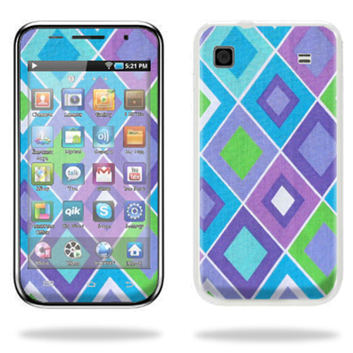 Mightyskins Protective Vinyl Skin Decal Cover for Samsung Galaxy Player 4.0 MP3 Player wrap sticker skins Pastel Argyle