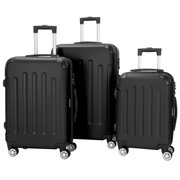 Zimtown 3 Pieces Travel Spinner Luggage Set Bag ABS Trolley Carry On Suitcase w/TSA