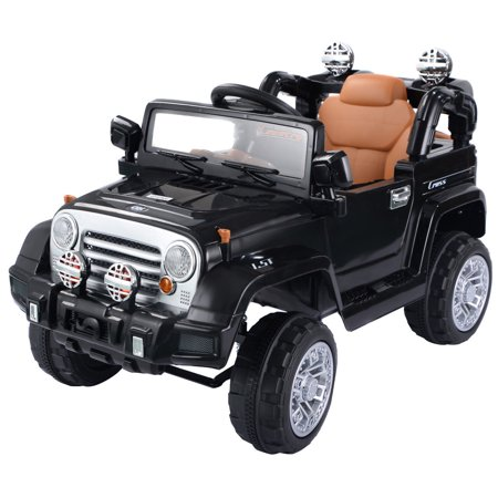 Costway 12V Mp3 Kids Ride On Truck Jeep Car Rc Remote Control W  Led Lights Music