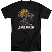 Judge Dredd Bike And Badge Mens Big and Tall Shirt