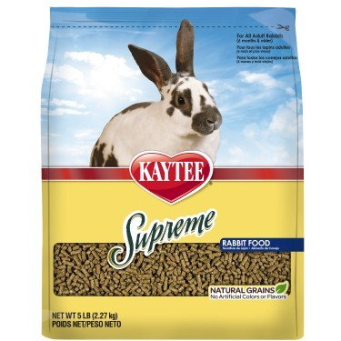 - Kaytee Supreme Fortified Daily Diet Rabbit Food, 5-lb