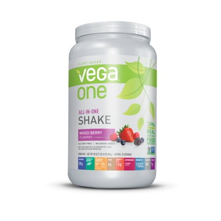Vega One All in One Nutritional Shake, Mixed Berry, Large, 30