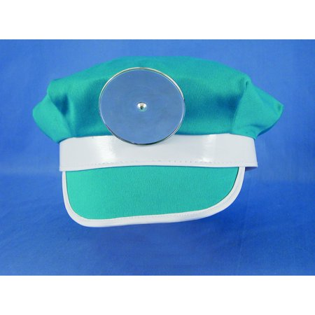 Doctor Hat With Reflector Adult Cap Doc Dr. Medical Surgeon ER Nurse Costume