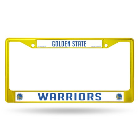 Golden State Warriors COLORED Chrome Frame SECONDARY YELLOW - image 1 de 1