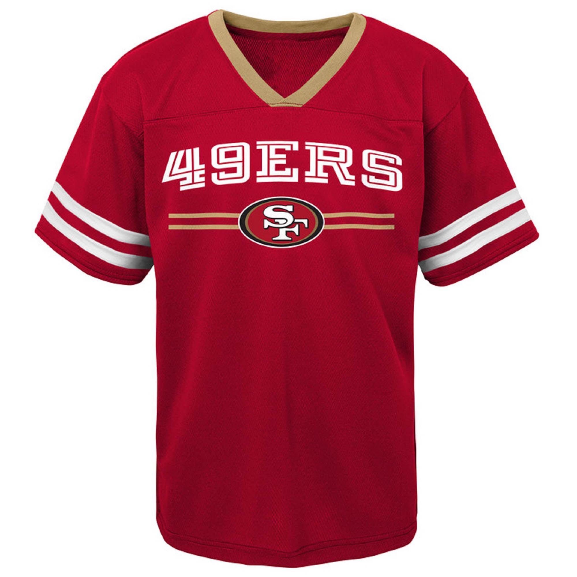 Newborn   Infant Scarlet San Francisco 49ers Mesh Jersey T-Shirt -  Walmart.com 84bda2914
