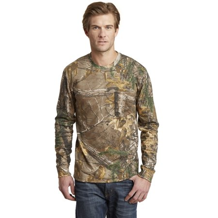 Realtree Long Sleeve Explorer 100% Cotton TShirt with Pocket