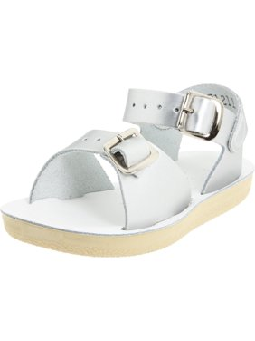 Salt Water Sandals 1712-SILVER: by Hoy Shoe Surfer Silver Sandal (12 M US Toddler)