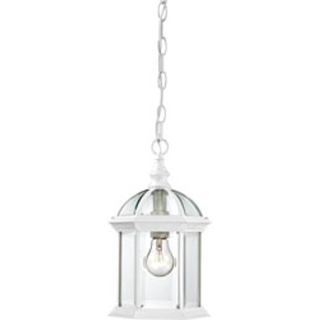Replacement for 60/4977 BOXWOOD 1 LIGHT 14 INCH OUTDOOR HANGING WITH CLEAR BEVELED GLASS WHITE TRADITIONAL replacement light bulb lamp