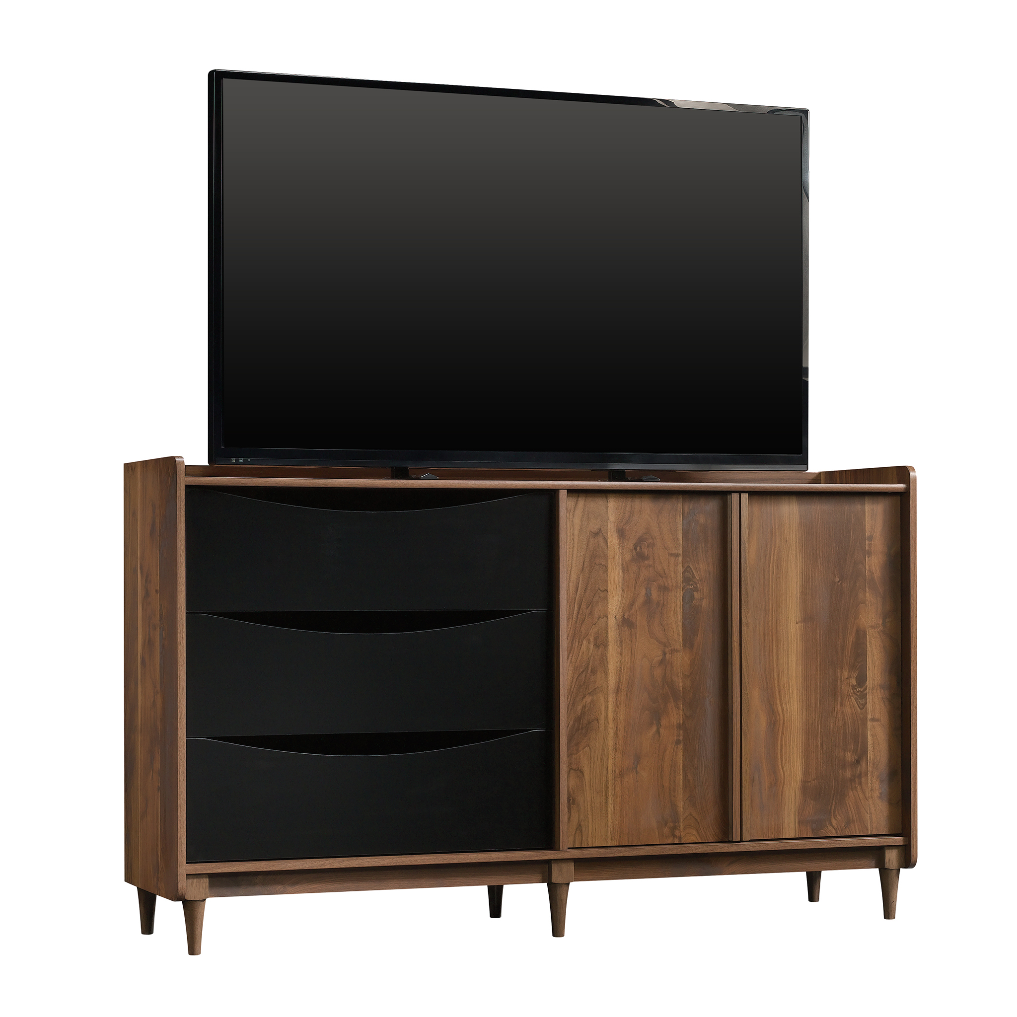"Better Homes & Gardens Montclair Credenza for TVs up to 55"", Vintage Walnut Finish"