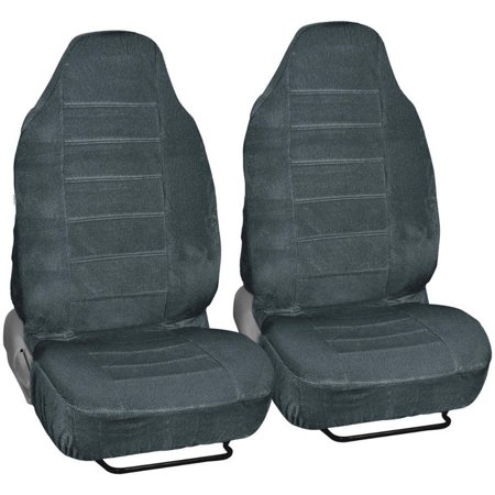 BDK Regal Car Seat Covers, Dotted Cloth 2 Piece Premium High Back Seat Covers ()