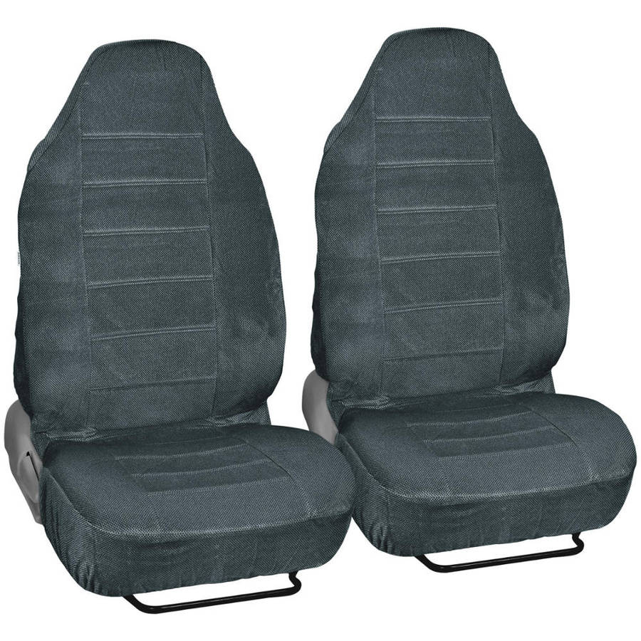 BDK Regal Car Seat Covers, Dotted Cloth 2 Piece Premium High Back Seat Covers