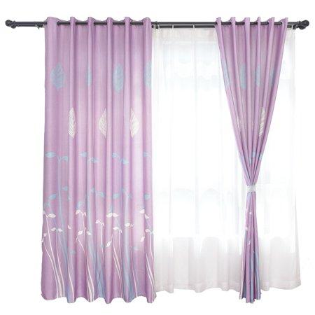 FAGINEY Rideau de fenêtre occultant en polyester Rideau occultant drapé décor de salle de séjour, rideaux de chambre à coucher, rideaux de chambre à coucher - image 8 de 8