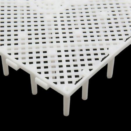 3pcs Plastique Blanc Conseil Séparation Grille diviseur Filtration pour Aquarium Plaque - image 1 de 2