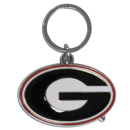 Georgia Bulldogs Enameled Key Chain (F)