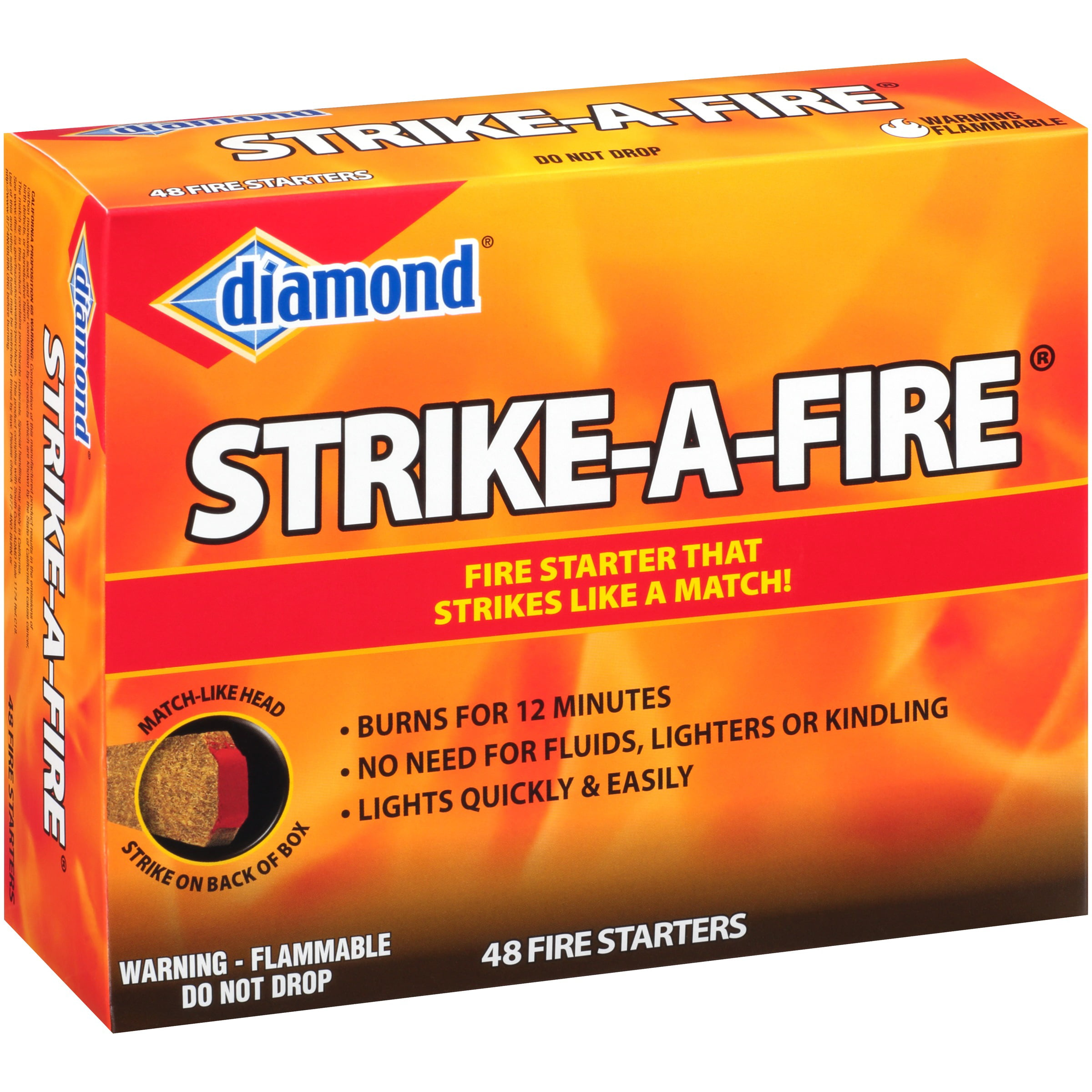 Diamond Strike-A-Fire Fire Starters 48 ct Box by Hearthmark, LLC dba Jarden Home Brands