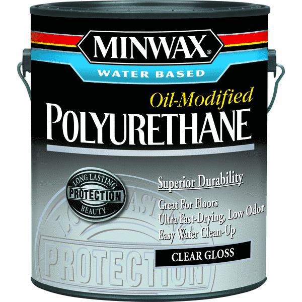 Minwax Water Based Oil-Modified Polyurethane, 1 gallon, Gloss