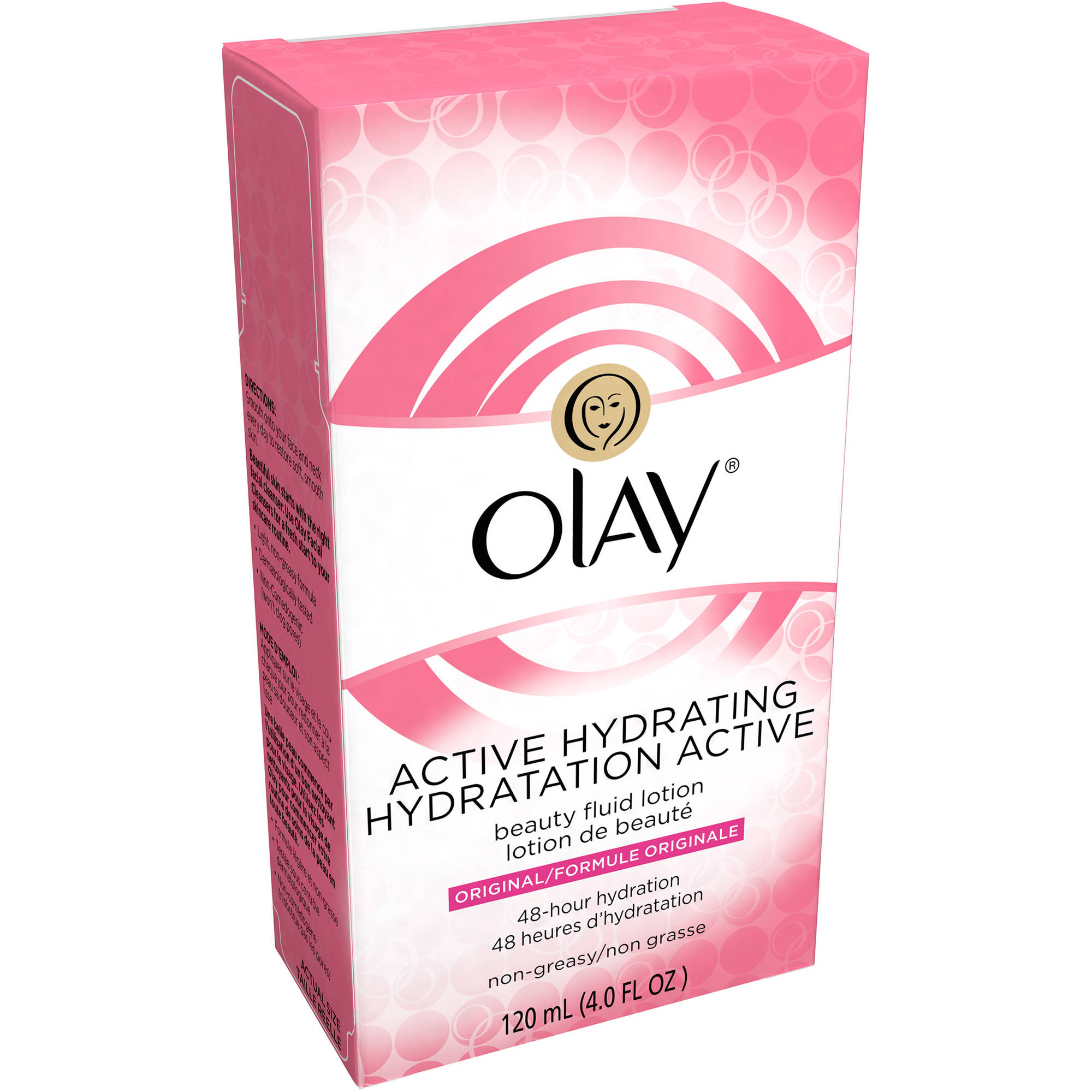 Olay Active Hydrating Beauty Fluid Lotion, 4.0 fl oz