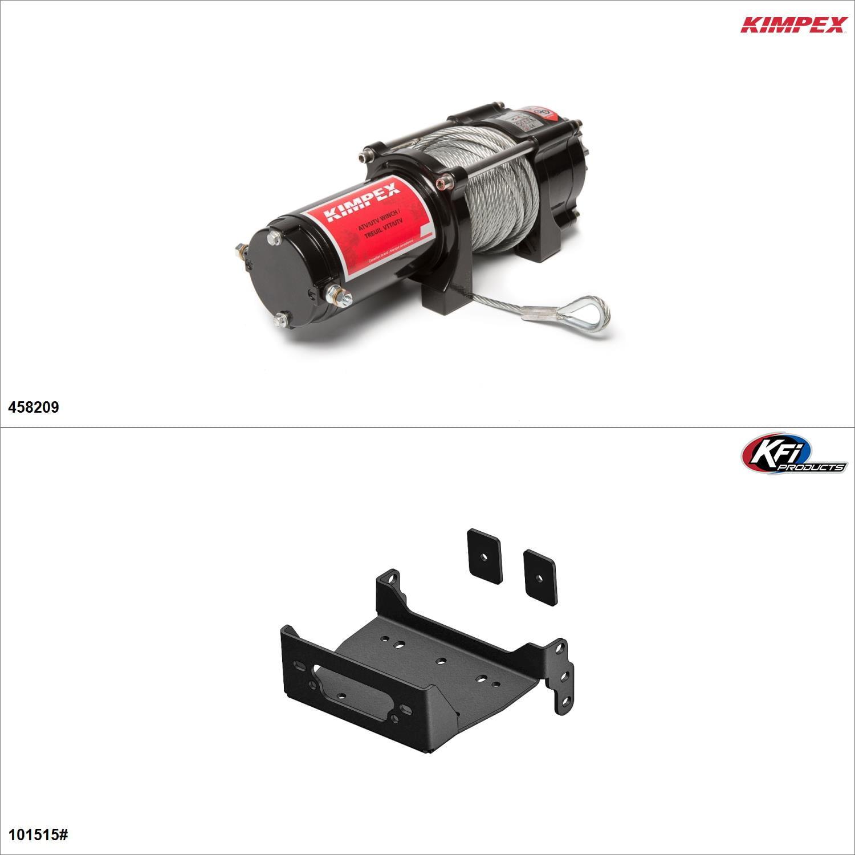 Kimpex 2500 lb Winch Kit - Steel, Yamaha Wolverine X2 R-Spec 2019  #KK00002228_6