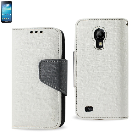 REIKO SAMSUNG GALAXY S4 MINI 3-IN-1 WALLET CASE IN WHITE