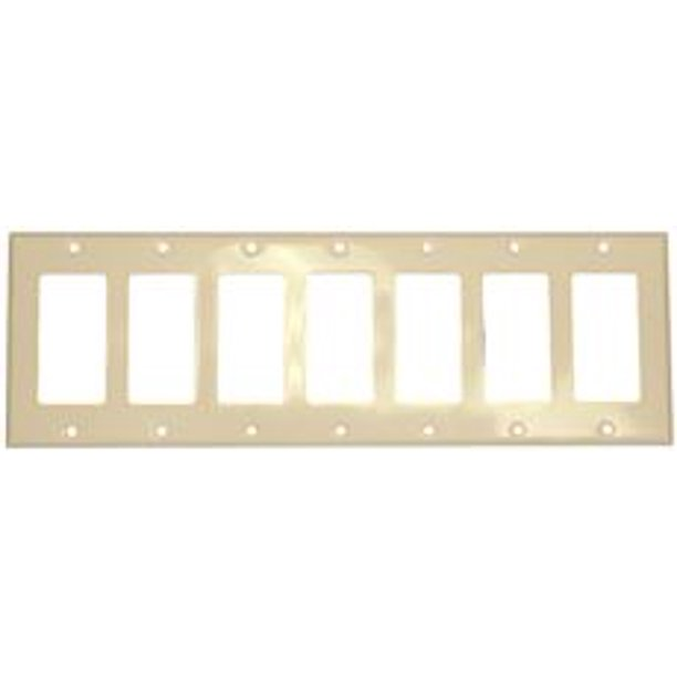 Decora Switch 7-Gang Plate White