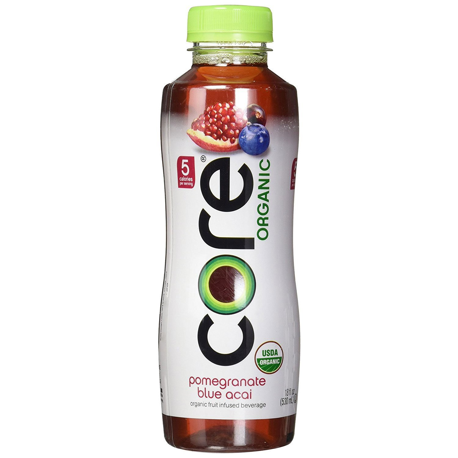 Core Organic Fruit Infused Beverage, 18 Fl Oz, Pomegranate Blueberry Acai (Pack of 36)