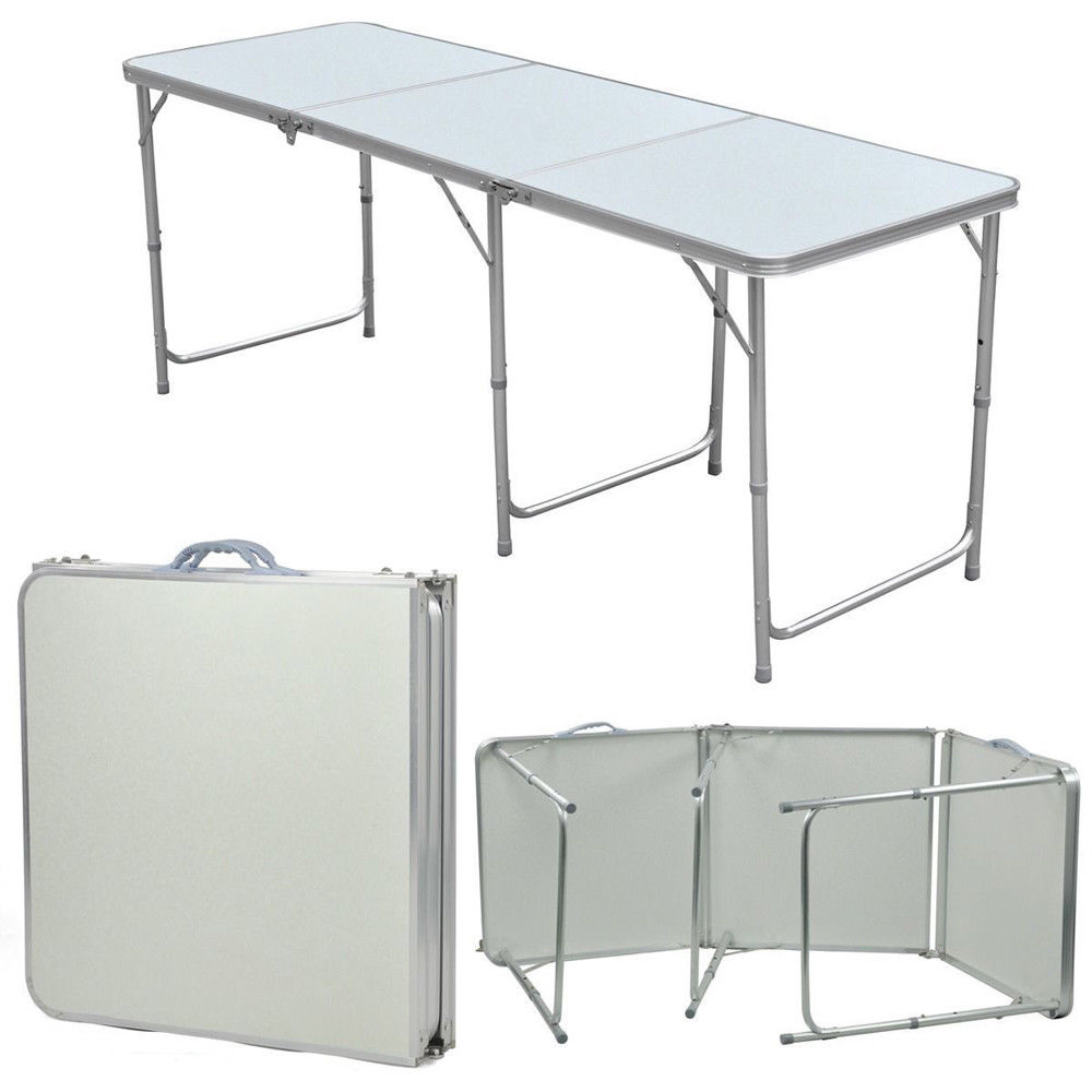 Zimtown Folding Table Portable Aluminium Alloy Indoor Picnic Party Dining Camp Tables by