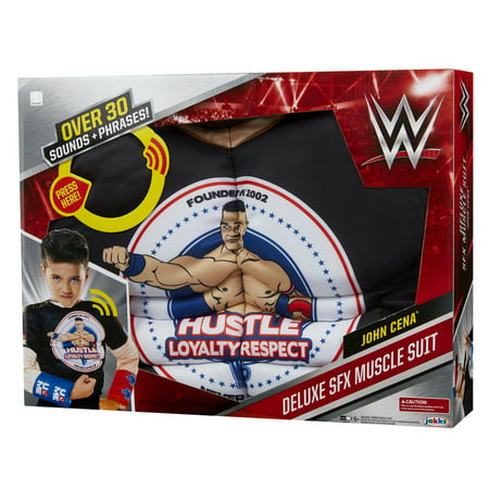 WWE John Cena Deluxe Muscle Suit with sound effects