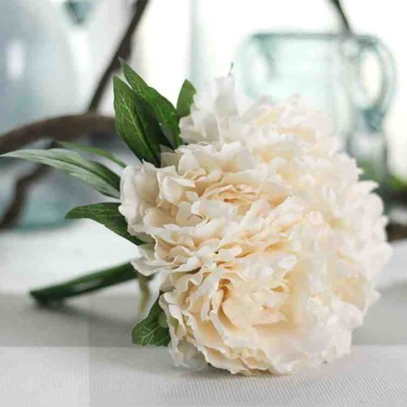 Artificial Fake Flowers Leaf Magnolia Floral Wedding Bouquet Party