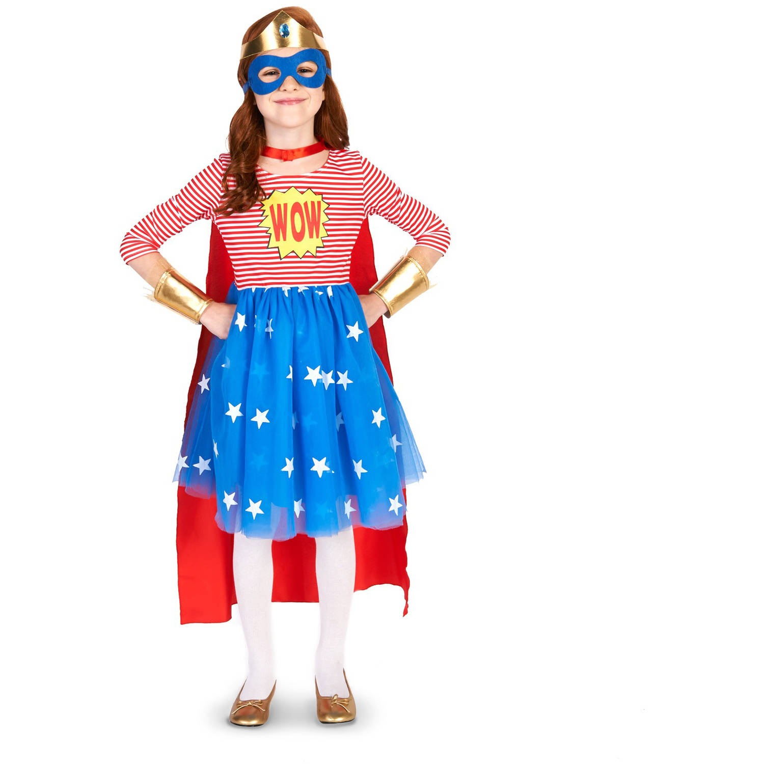 Pop Art Comic Superhero Girl Child Halloween Costume