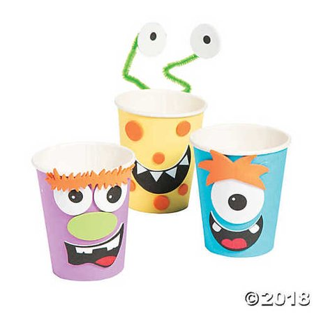 Silly Monster Halloween Treat Cup Craft Kit - Monster Eyeballs Halloween Treat Recipe