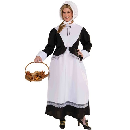 Pilgrim Woman Plus Size Costume - Woman Pilgrim Costume