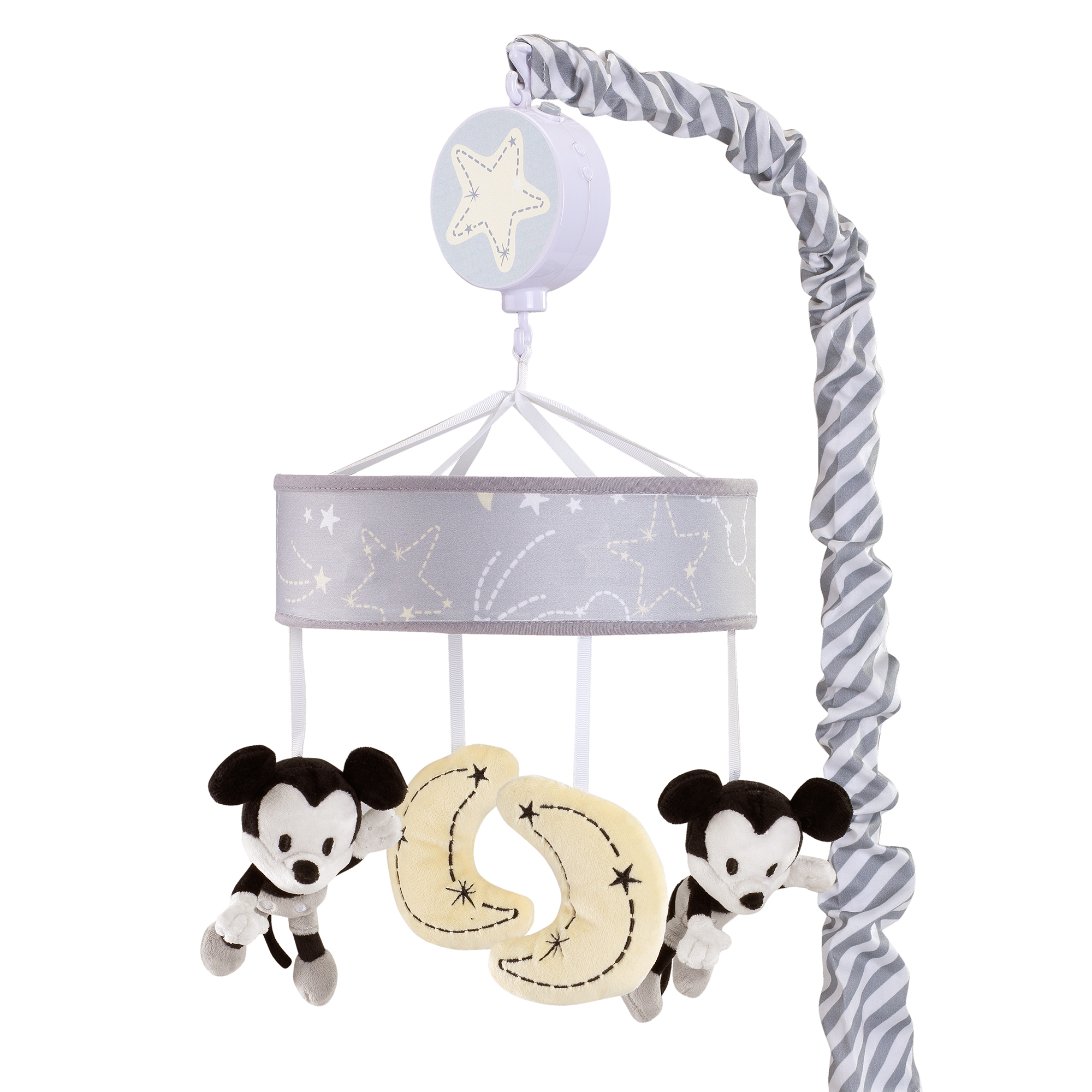 Disney Baby Mickey Mouse Gray Yellow Musical Baby Crib Mobile by Lambs & Ivy by Lambs %26 Ivy