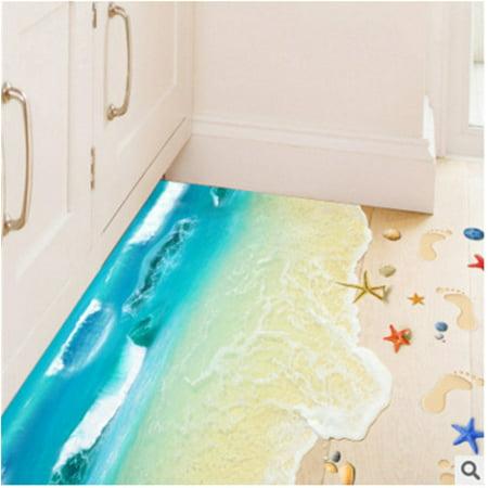 3d Floor Sticker Ocean Waves Decals Vinyl Art Living Room Decor Kids Room Landscape Mural Walmart Canada