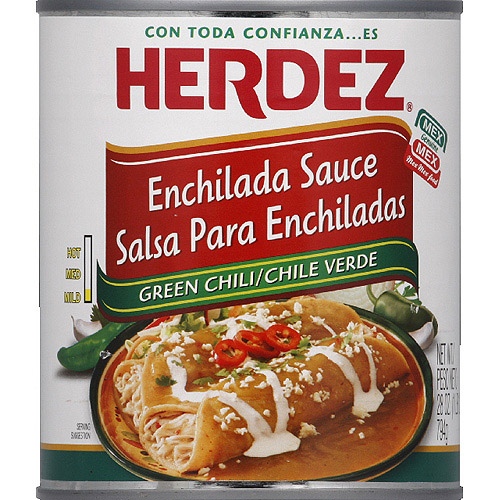 HERDEZ Mild Green Chili Enchilada Sauce, 28 oz, (Pack of 12)