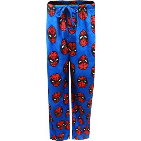 Marvel Comics Spiderman Guys Super Soft Lounge Pants - Spiderman Onesies For Adults