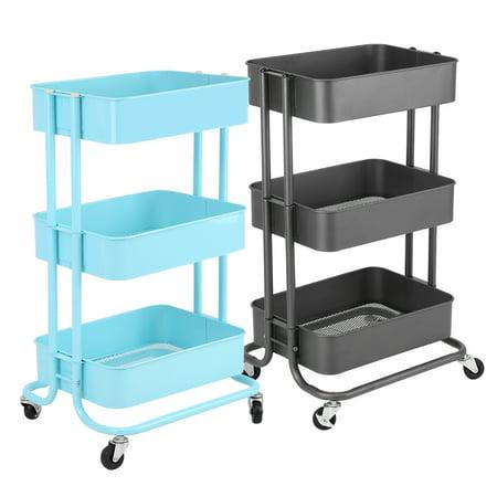 3 Tier Utility Service Cart Rolling Storage Utility Cart Walmartcom