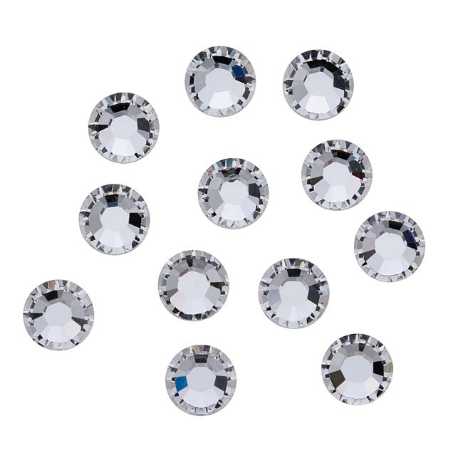 Swarovski Crystal, Round Flatback Rhinestone SS34 7mm, 12 Pieces, Crystal