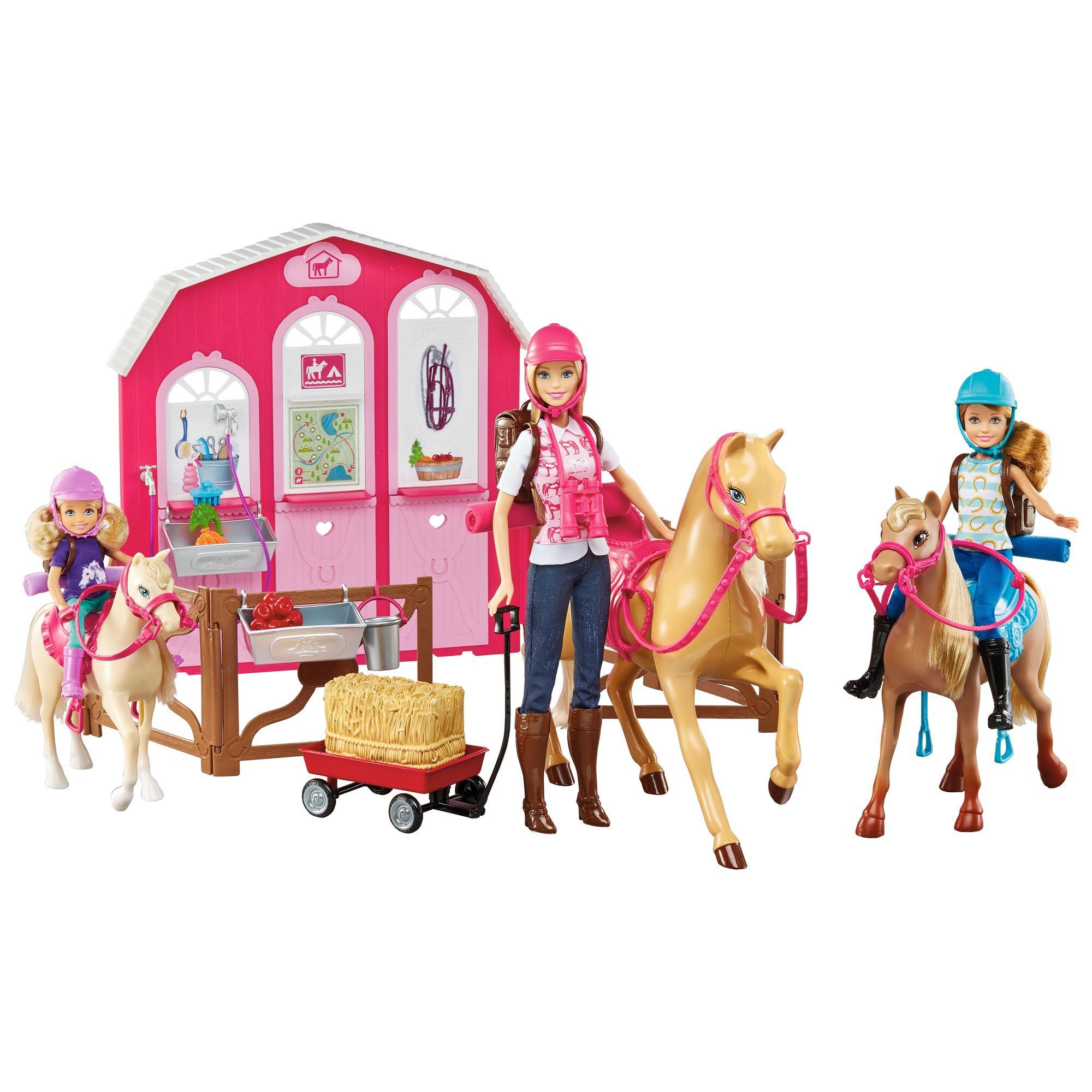 Barbie Horse Ranch Playset with Barbie, Stacie and Chelsea Doll by Mattel