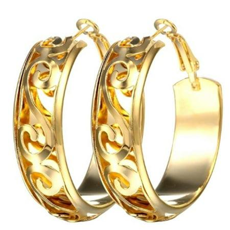 Wholesale Fashion Earrings - AkoaDa Diameter Wide Alloy Punk   Earrings Fashion Jewelry Statement Earrings For Women  Brincos Wholesale Gift