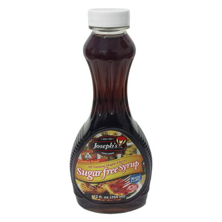 (3 Pack) Joseph's Sugar-Free Maple Syrup, 12 Oz (Syrah Star)