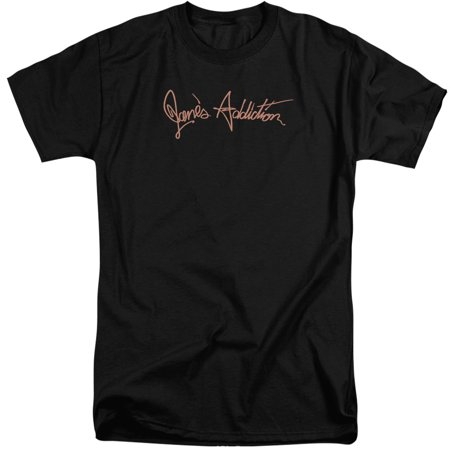 Janes Addiction Script Logo Mens Big And Tall Shirt