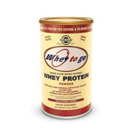 Whey To Go Protein Powder-Natural Vanilla Solgar 12 oz Powder