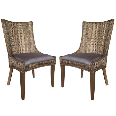 A Line Furniture Tropical Design Rattan Woven Wing Chairs (Set of 2) ()