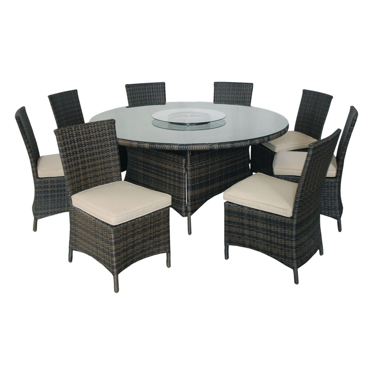 Creative Living Monte Carlo 9 Piece Round Patio Dining Set - Walmart.com